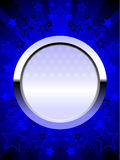 Patriotic chrome shield blue Royalty Free Stock Images