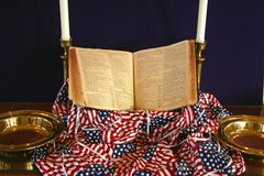 Patriotic Church Display Stock Photo