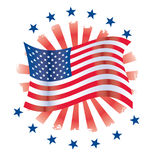 Patriotic Circle Royalty Free Stock Photos
