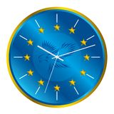 Patriotic clock Royalty Free Stock Images
