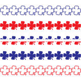 Patriotic Clover Borders Royalty Free Stock Images