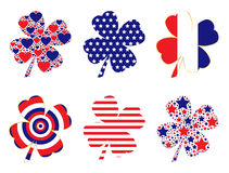 Patriotic Clovers Royalty Free Stock Photos