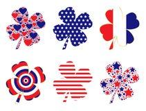 Patriotic Clovers Royalty Free Stock Photos