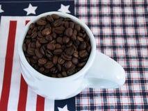 Patriotic Coffee Beans Stock Photos