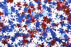 Patriotic confetti royalty free stock photo