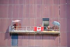 Patriotic Construction Workers Stock Photos