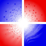 Patriotic corner designs Royalty Free Stock Photo