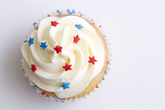 Patriotic cupcake Stock Images