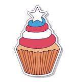 Patriotic cupcake isolated icon design Stock Image