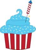 Patriotic Cupcake Royalty Free Stock Photography