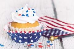 Patriotic cupcake Stock Images