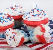 Patriotic Cupcakes Stock Image