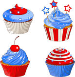 Patriotic cupcakes Stock Photos