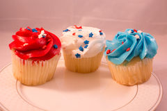 Patriotic cupcakes royalty free stock image
