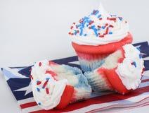Patriotic Cupcakes stock photos