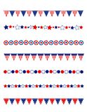 Patriotic divider border Royalty Free Stock Image