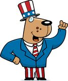 Patriotic Dog royalty free illustration