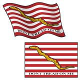 Dont Tread On Me Flag, Waving and Flat, Vector Graphic Illustration royalty free stock images