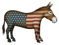 Patriotic Donkey Stock Image