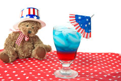 Patriotic Drink Stock Image
