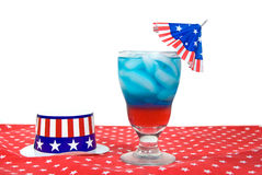 Patriotic drink with hat Stock Images