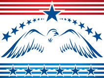 Patriotic eagle_banner Stock Photography
