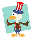 Patriotic Eagle With Hat Stock Image