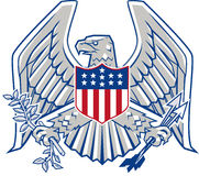 Patriotic Eagle Stock Images