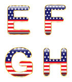 Patriotic EFGH Stock Photos
