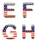 Patriotic EFGH Stock Photos
