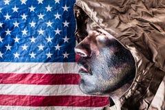 Patriotic elite soldier Stock Photos