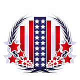 Patriotic Emblem Royalty Free Stock Photo