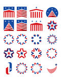 Patriotic emblems and logotypes royalty free stock photography