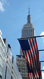 Patriotic Empire State Royalty Free Stock Photos