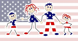 Patriotic Family Royalty Free Stock Photography