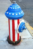 Patriotic Fire Hydrant Royalty Free Stock Photos
