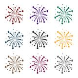 Patriotic fireworks icon in black style isolated on white background. Patriot day symbol stock vector illustration. Patriotic fireworks icon in black style Stock Photo