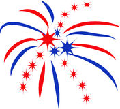 PATRIOTIC FIREWORKS Stock Photography