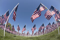 Patriotic Flag Display Royalty Free Stock Image