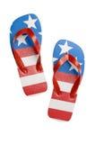 Patriotic flip flops Stock Photos