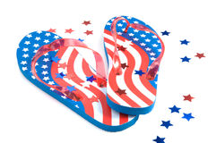 Patriotic Flip Flops Royalty Free Stock Images