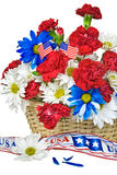 Patriotic Floral Basket Royalty Free Stock Image