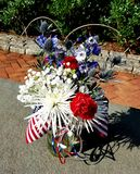 Patriotic flower display on 4th of July Royalty Free Stock Photo