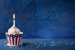 Fourth of July Cupcakes stock photography