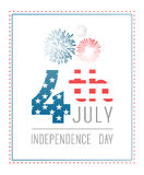 Patriotic fourth of july vector Stock Photo