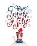 Patriotic fourth of july vector Stock Image
