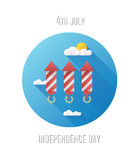 Patriotic fourth of july vector Stock Photography