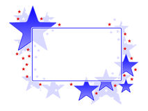 Patriotic frame. Frame with patriotic red and blue stars Royalty Free Stock Photos