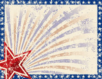 Patriotic Frame. With Stars and Grunge. Grunge grouped for easy removal Stock Image