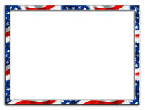 Patriotic Frame Border. Patriotic red white and blue border beveled frame on white background vector illustration